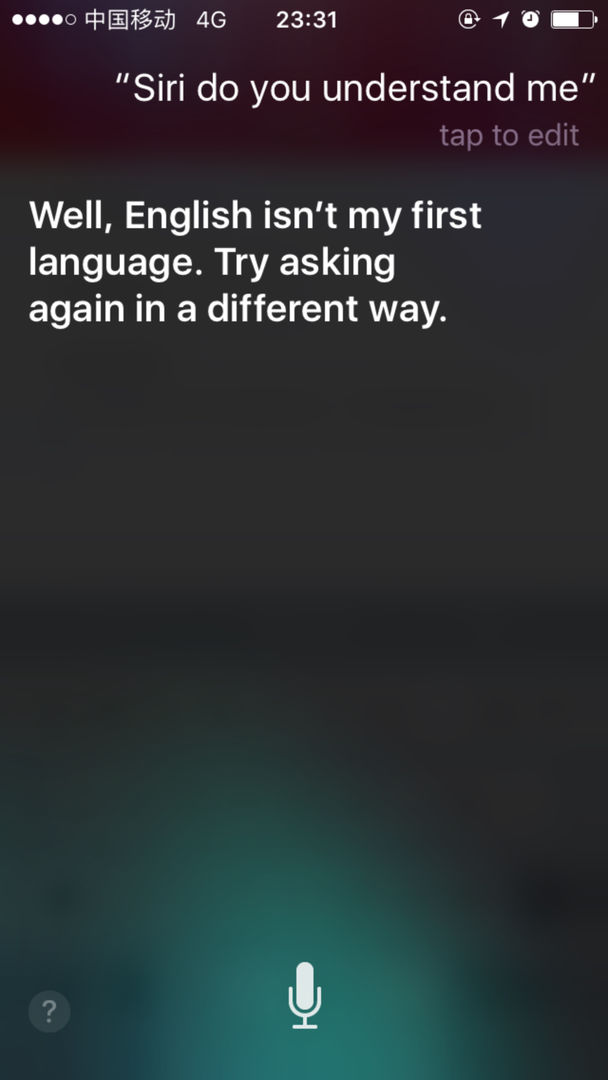 Siri do you understand me