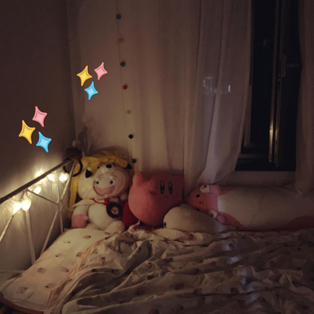 今天晚上太凉快惹 决定开 窗 睡!