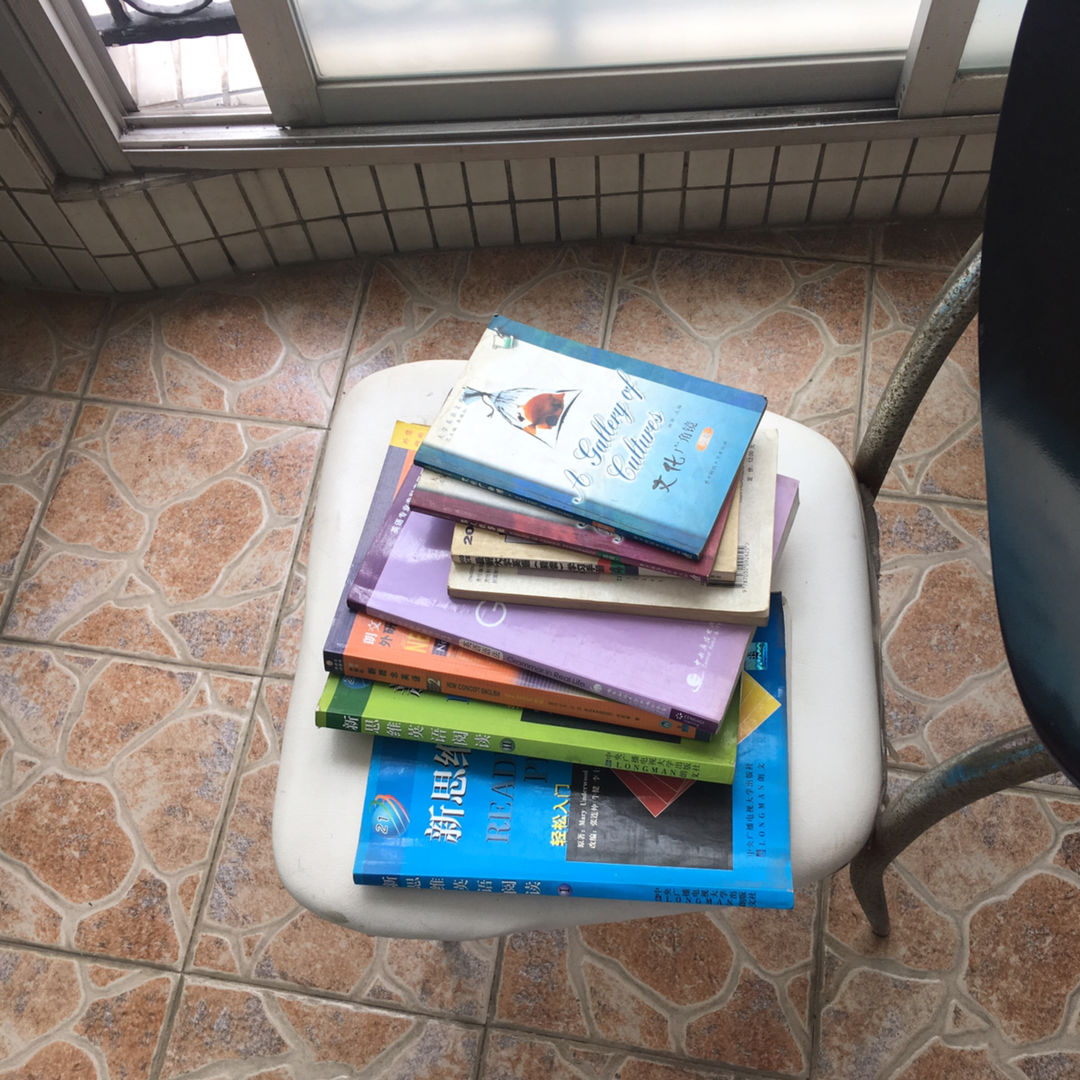 Books dry in the sun