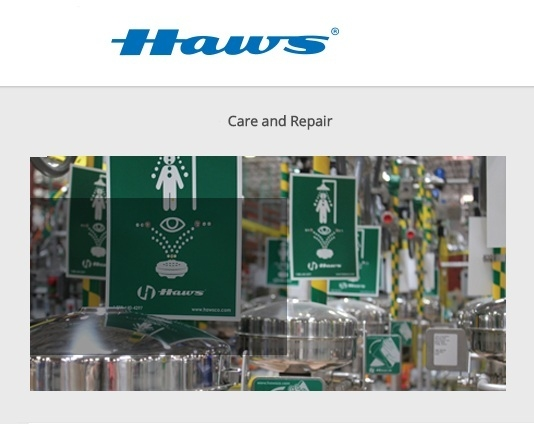 Haws Corporation tempered water care and repair