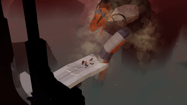 今天上午通关的古墓丽影解密手游 Lara Croft GO 赞!