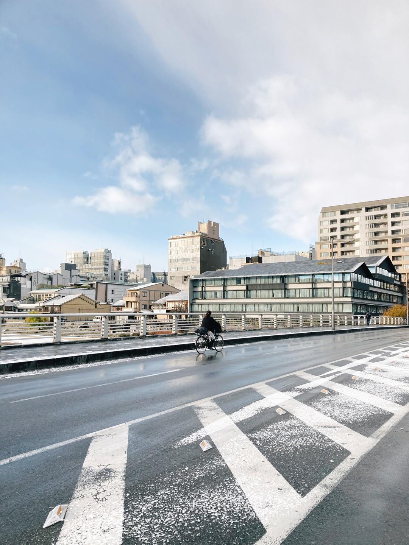 一个人在京都看雪