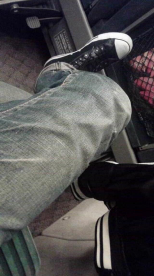 男朋友的腿,猜猜多高( ´▽`)
