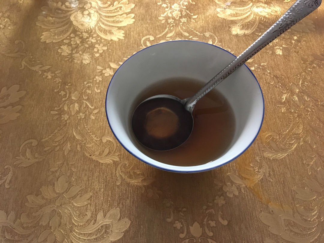 syrup of dark Brown Sugar and Ginger