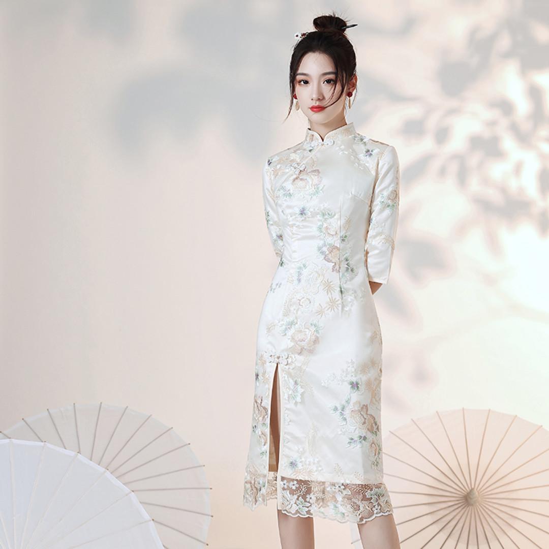 【好想全部吃掉! (๑>///<๑)♥】当法式裙遇到旗袍,总是忍不住想多看几眼!~~~