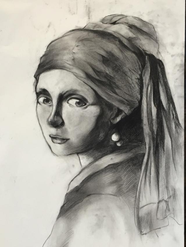 最喜欢的油画之一(戴着珍珠耳环的少女)