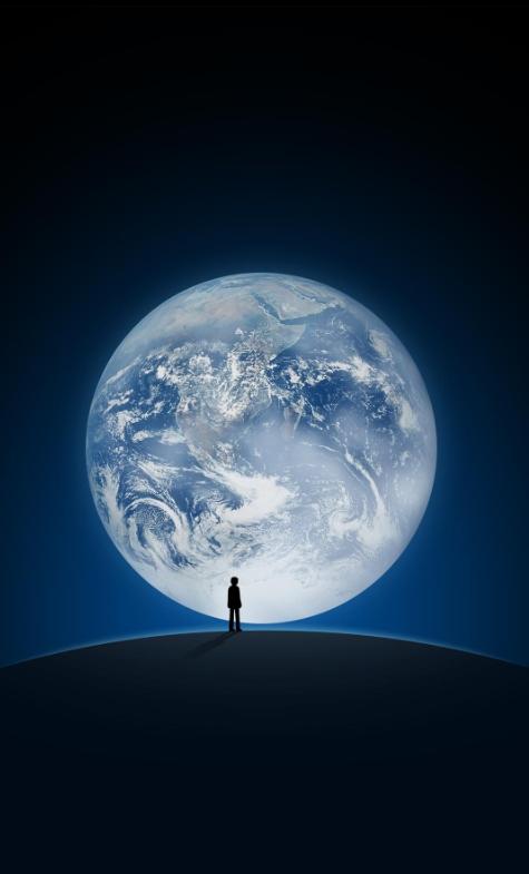 今晚的月亮真大!