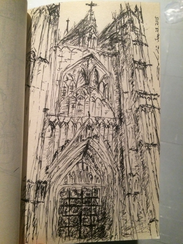 【绘】布鲁塞尔的圣米歇尔大教堂